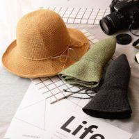 כובע קש מתקפל